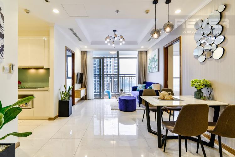 Phòng Khách Căn hộ Vinhomes Central Park tầng cao, tháp Landmark 3, 3 phòng ngủ, full nội thất