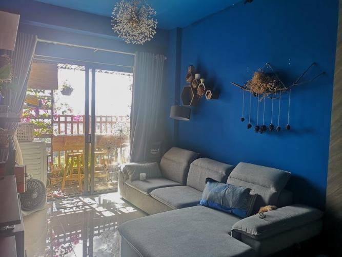 Phòng khách căn hộ The Sun Avenue, Quận 2 Căn hộ Vinhomes Grand Park tầng 24, bàn giao nội thất đầy đủ.