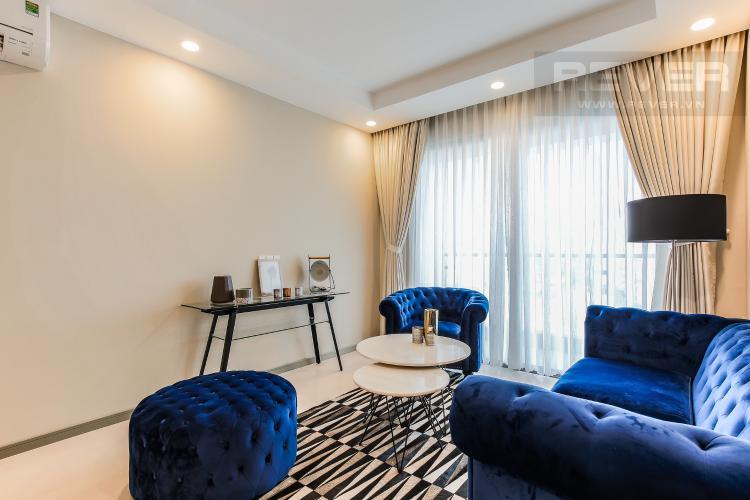 Phòng Khách Căn hộ The Gold View tầng trung, tháp A3, 2 phòng ngủ, view sông