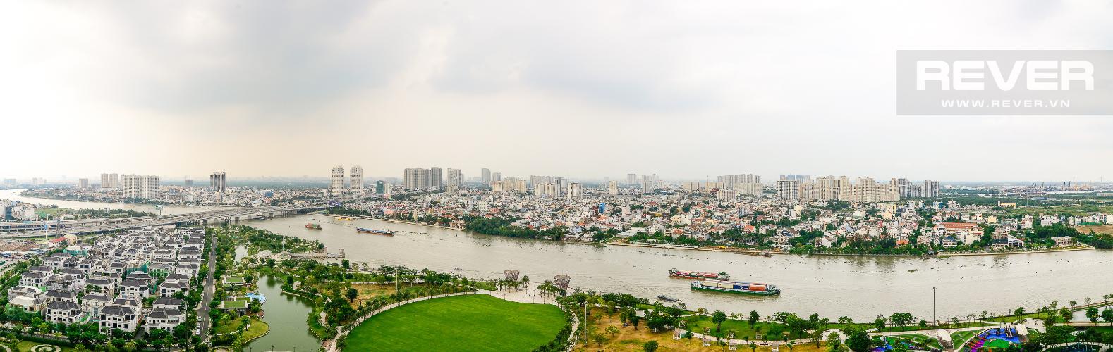 View Cho thuê căn hộ Vinhomes Central Park 4PN, đầy đủ nội thất, view trực diện sông Sài Gòn