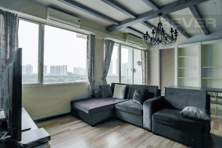 Phòng Khách Bán căn hộ Grand View Quận 7 tầng thấp 2PN đầy đủ nội thất