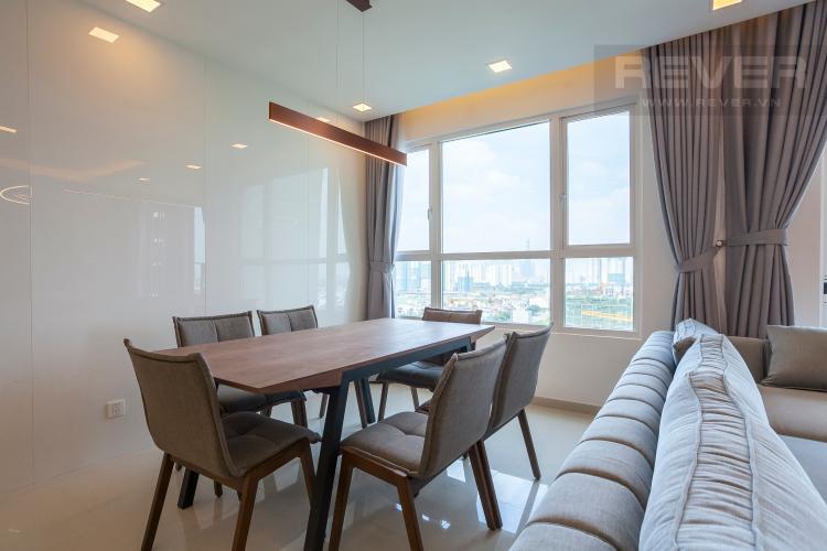 Bàn Ăn Căn góc Vista Verde 3 phòng ngủ tầng trung T2 đầy đủ nội thất