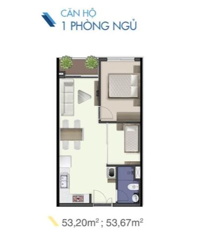 Căn hộ Q7 Saigon Riverside, tầng trung, thiết kế hiện đại.