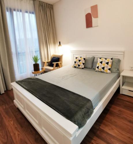 Phòng ngủ One Verandah Quận 2 Căn hộ One Verandah tầng trung, đầy đủ nội thất, view sông lãng mạn.