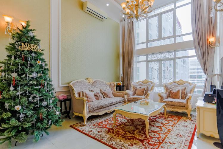 Phòng Khách Duplex Phú Hoàng Anh 3 phòng ngủ view hồ bơi
