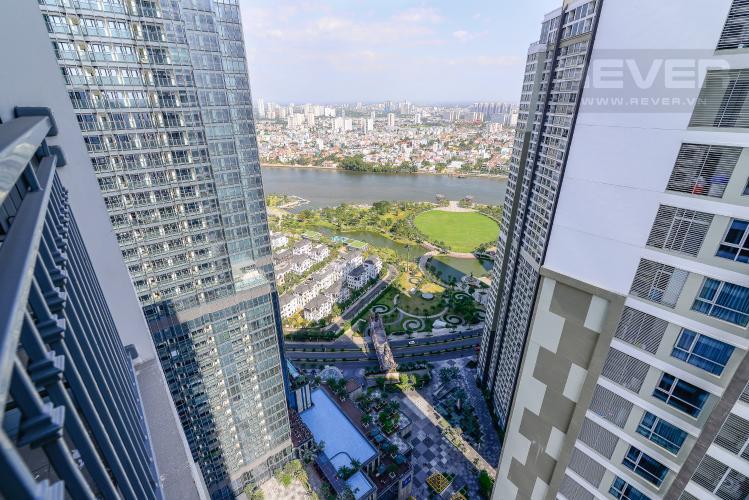 View Cho thuê căn hộ Vinhomes Central Park 3PN và 2WC, nội thất cơ bản, view nội khu