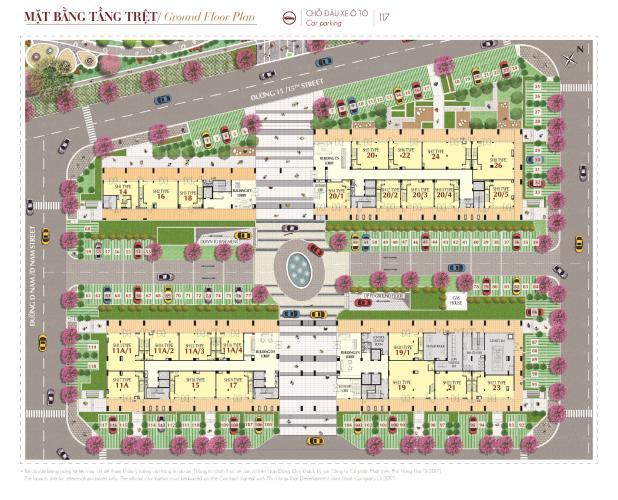 Phú Mỹ Hưng Midtown Căn hộ Shophouse Phú Mỹ Hưng Midtown diện tích 47m2, bàn giao thô.