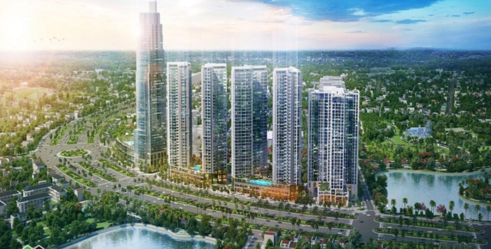 Bán căn hộ Eco Green Sài Gòn, diện tích 66.81m2 - 2 phòng ngủ, tầng cao, ban công hướng Tây, nội thất cơ bản.