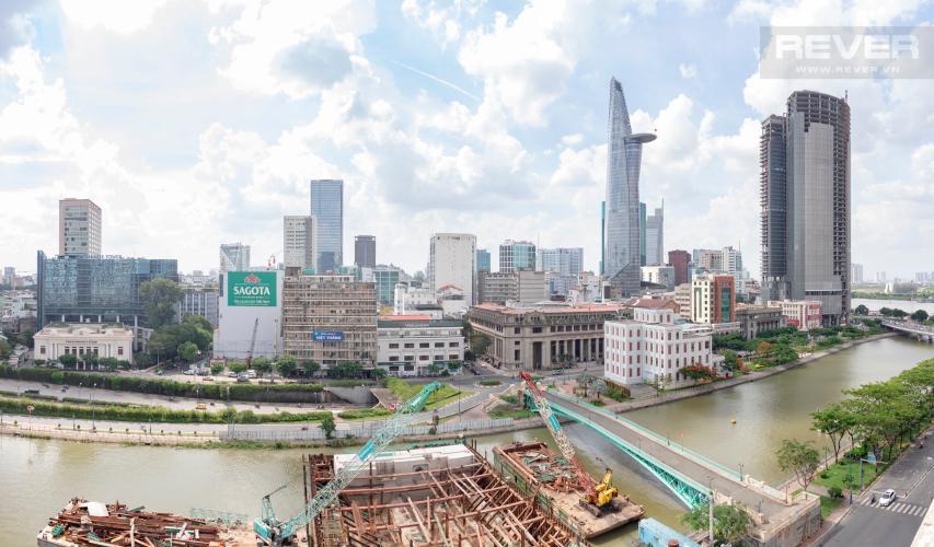 View Bán căn hộ Saigon Royal 2PN, tầng trung, tháp A, view trực diện sông và Bitexco