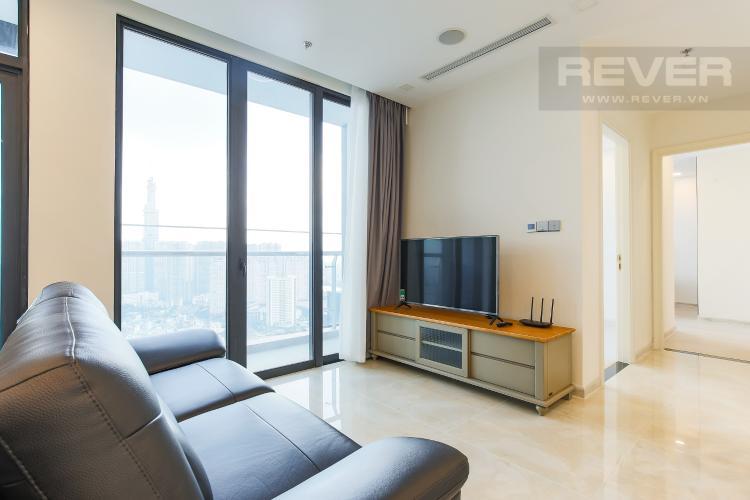 Phòng Khách Officetel Vinhomes Golden River 2 phòng ngủ tầng cao A3 đầy đủ nội thất
