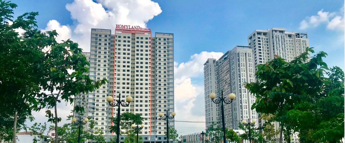 Chung cư căn hộ Homyland 3, Quận 2 Căn hộ cao cấp HomyLand Riverside hướng Đông Nam, đầy đủ nội thất.