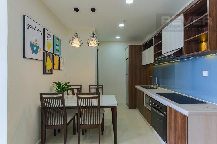Phòng Bếp Cho thuê căn hộ Masteri Millennium tầng cao 2PN đầy đủ nội thất view sông