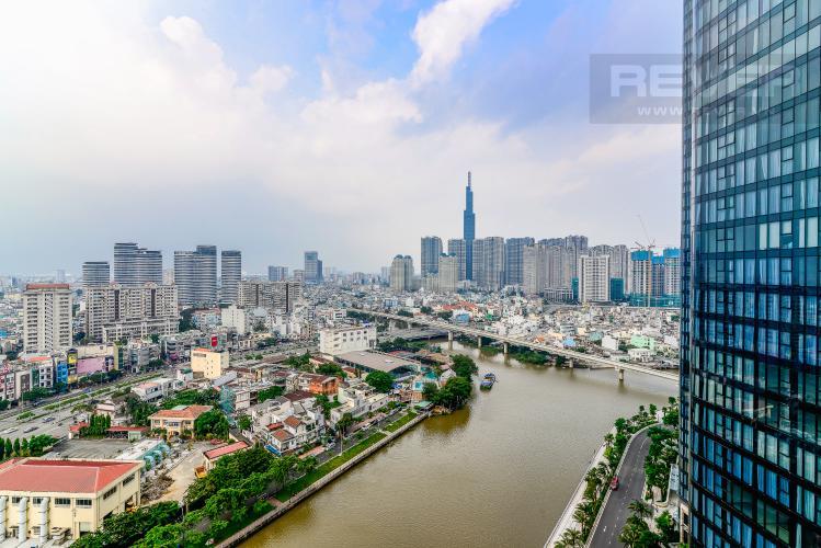 View Cho thuê căn hộ Vinhomes Golden River tầng cao 3PN view sông