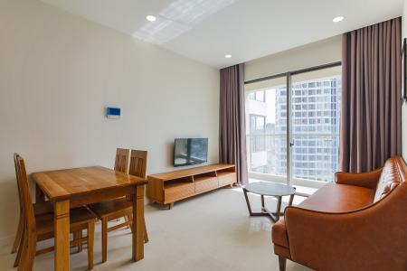 Cho thuê căn hộ Masteri Millennium tầng cao, 1PN, view sông, nội thất đầy đủ