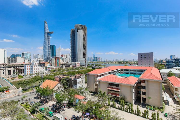 View Cho thuê căn hộ Saigon Royal hướng Đông Bắc, 43m2 1PN 1WC, view thành phố