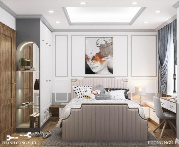 Phòng ngủ căn hộ Saigon South Residence Căn hộ Saigon South Residence đầy đủ nội thất, ban công hướng Bắc