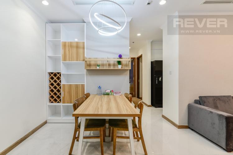 Phòng Ăn Cho thuê căn hộ Vinhomes Central Park tầng cao, 2PN đầy đủ nội thất, tiện nghi, view nội khu