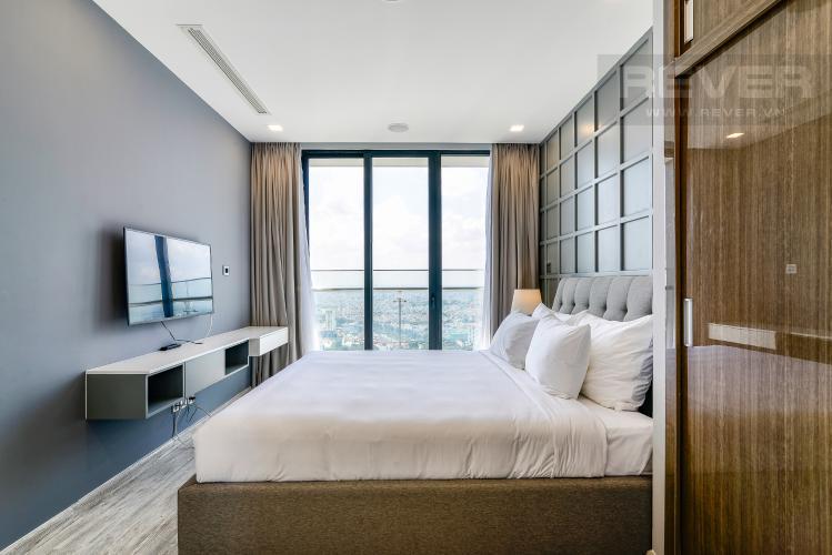 Phòng Ngủ 1 Căn hộ Vinhomes Golden River tầng cao, tháp A1, gồm 3 phòng ngủ, 2 phòng tắm, full nội thất