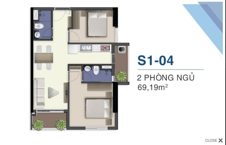 Căn hộ Q7 Saigon Riverside tầng cao, hướng Bắc, view nội khu.