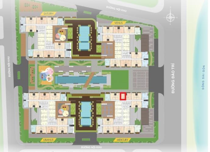 Layout tổng quan Q7 Saigon Riverside Bán căn hộ tầng cao Q7 Saigon Riverside, ban công hướng Bắc.