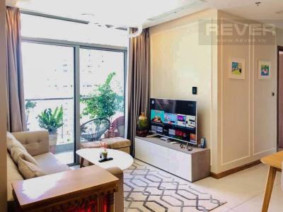 Bán căn hộ Vinhomes Central Park tầng cao Park 6, 2 phòng ngủ và 2 toilet, đầy đủ nội thất