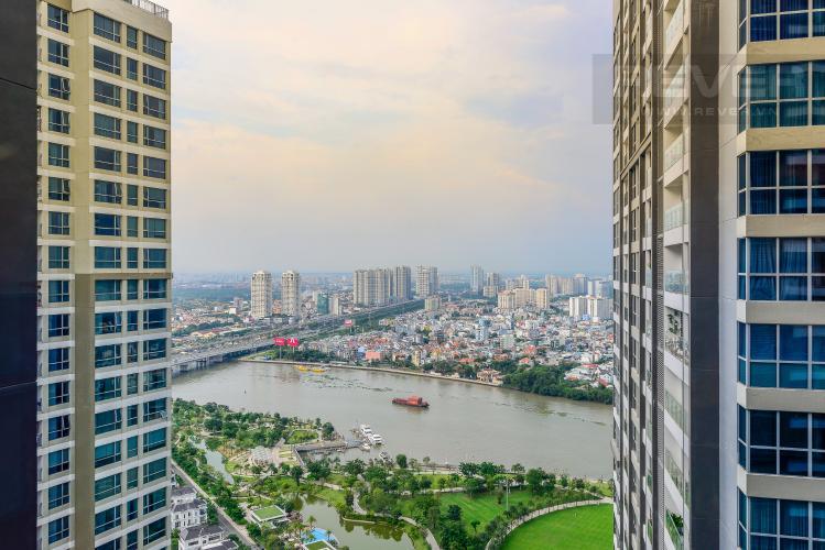 View Cho thuê căn hộ Vinhomes Central Park 2PN tầng cao tháp Park 6, đầy đủ nội thất, view sông mát mẻ