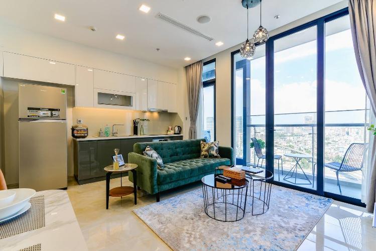 Cho thuê officetel Vinhomes Golden River 2PN, diện tích 71m2, đầy đủ nội thất, view Landmark 81