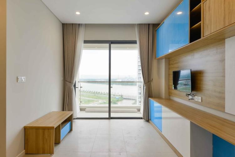 Phòng Khách Cho thuê căn hộ Diamond Island - Đảo Kim Cương 1PN, tầng trung, tháp Canary, view sông thoáng mát