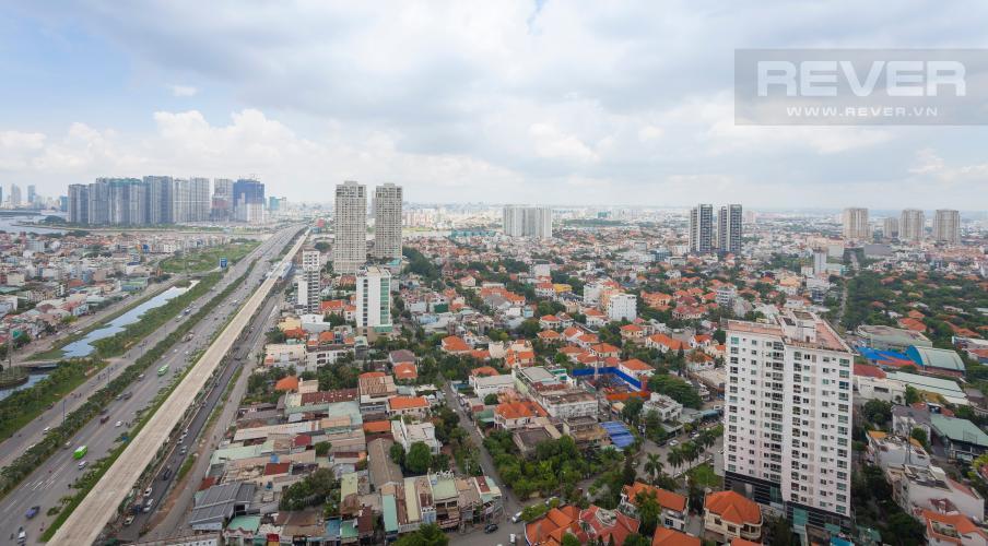 View toàn cảnh nhìn từ căn hộ Căn hộ Masteri Thảo Điền tầng cao tháp T1B view đẹp