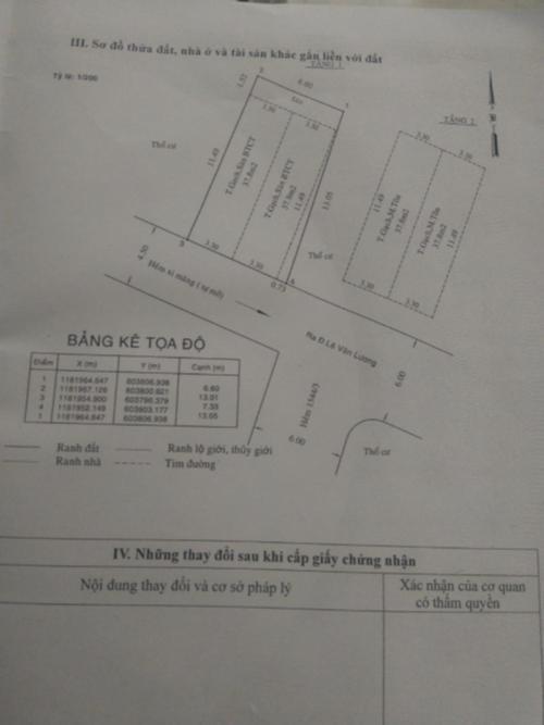 Mặt bằng nhà  phố Nhà Bè Nhà hẻm 4m huyện Nhà Bè hướng Nam, diện tích sử dụng 151.6m2.