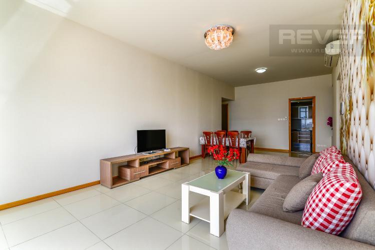 Phòng Khách Cho thuê căn hộ Saigon Pearl 3PN đầy đủ nội thất