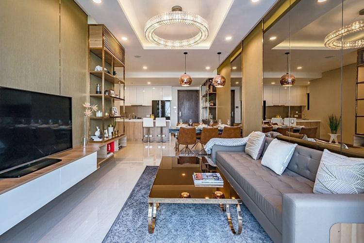 can-ho-ONE-VERANDAH Bán căn hộ One Verandah 3PN, tầng thấp, diện tích 107m2, nội thất cơ bản