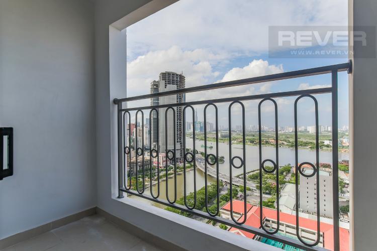 Balcony Cho thuê căn hộ Saigon Royal 2PN, tầng cao, đầy đủ nội thất, view sông thoáng mát