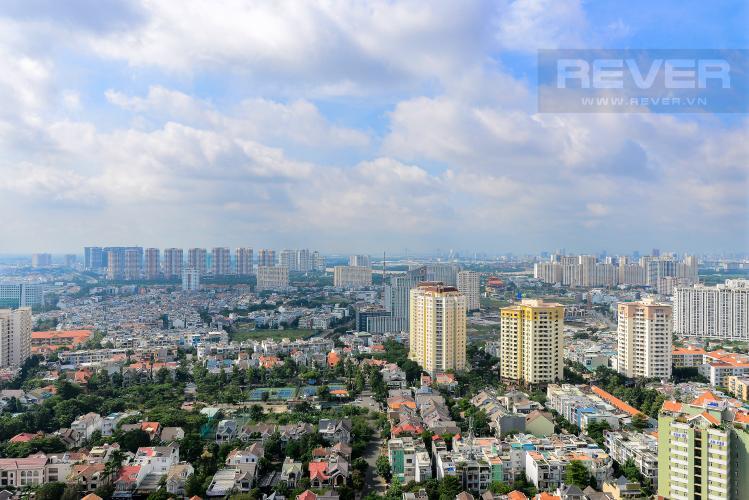 View Cho thuê căn hộ Masteri Thảo Điền 2PN, tầng cao, đầy đủ nội thất, view khu dân cư rộng lớn
