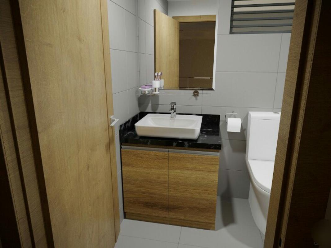 phòng wc căn hộ La Astoria 2 quận 2 Căn hộ La Astoria hướng Tây Bắc, đầy đủ nội thất.