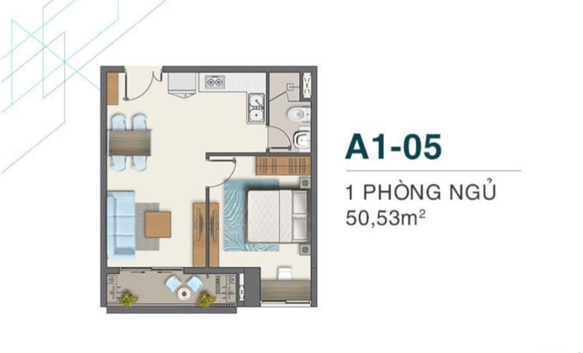 Căn hộ Q7 Boulevard tầng 15, nội thất cơ bản, 1 phòng ngủ.