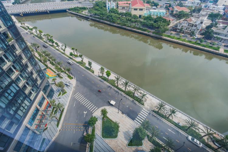 View Căn hộ Vinhomes Golden River 2 phòng ngủ tầng thấp A3 full nội thất