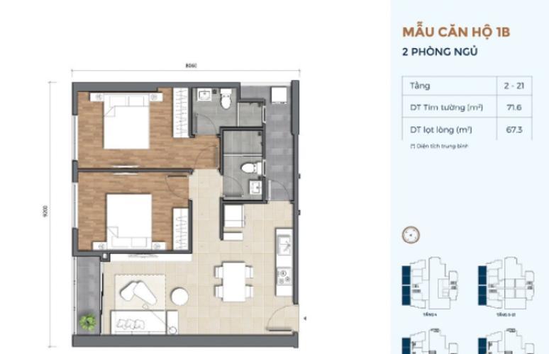 Căn hộ Precia nội thất cơ bản, thiết kế hiện đại.