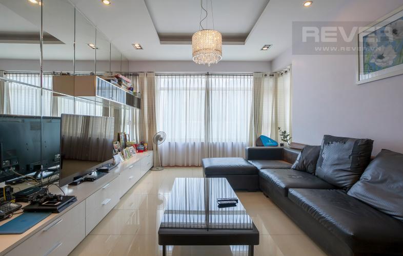 Phòng Khách Căn hộ Saigon Pearl 3 phòng ngủ tầng cao Sapphire đầy đủ nội thất