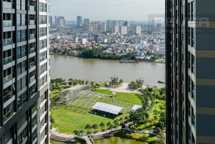 View Căn hộ Vinhomes Central Park 2PN tầng cao, tháp Park 6, view công viên và view sông
