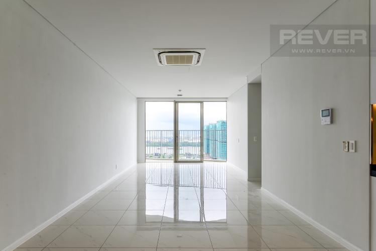 Phòng Khách Cho thuê căn hộ Waterina Suites 3PN, tầng trung, nội thất cơ bản, view sông và Landmark 81