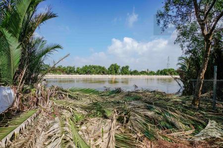 Bán 680 m2 đất hai mặt tiền, ven sông, vuông vức ở Đào Sư Tích, Phước Kiển, Nhà Bè