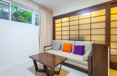 Căn hộ dịch vụ Saigon Pearl 1 phòng ngủ 40m2 thiết kế đẹp, tiện nghi