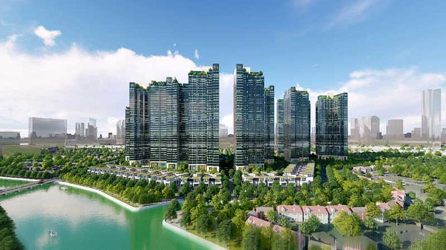 Phối cảnh dự án Sunshine City Sài Gòn Bán Officetel Sunshine City Sài Gòn thuộc tầng cao, 2 phòng ngủ, diện tích 69m2, nội thất cơ bản.