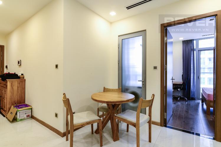 Phòng Ăn Căn hộ Vinhomes Central Park tầng trung, 1PN, đầy đủ nội thất, view sông