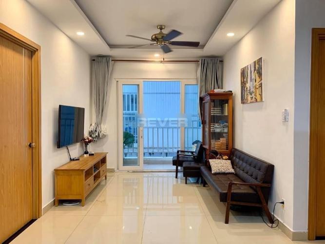Phòng khách Saigonres Plaza, Bình Thạnh Căn hộ Saigonres Plaza hướng Tây Bắc, nội thất cao cấp.
