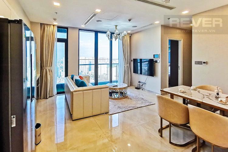 Phòng Khách Bán hoặc cho thuê căn hộ Vinhomes Golden River 2PN, tháp The Luxury 6, view thành phố