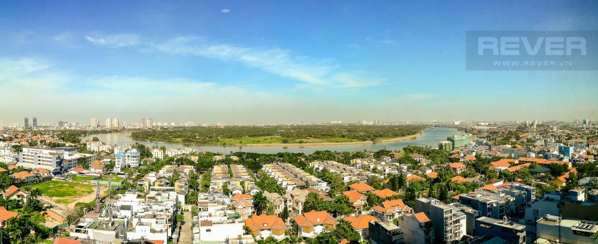 View Căn hộ The Vista An Phú tầng trung, 2PN, view sông Sài Gòn