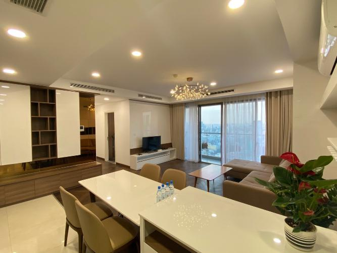 bàn ăn căn hộ Masteri Millennium Căn hộ Masteri Millennium nội thất cao cấp, sang trọng, view Bitexco.