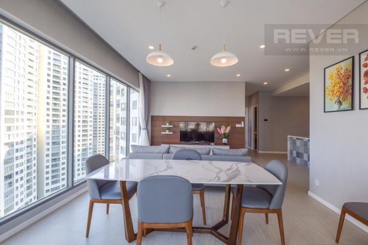 Phòng Ăn Cho thuê căn hộ Diamond Island 3PN 2WC, đầy đủ nội thất, view sông